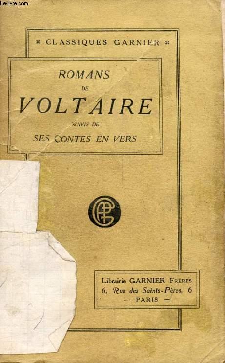 ROMANS DE VOLTAIRE, Suivis de ses CONTES EN VERS