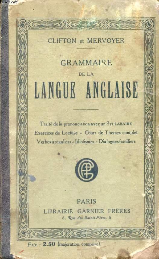 GRAMMAIRE DE LA LANGUE ANGLAISE