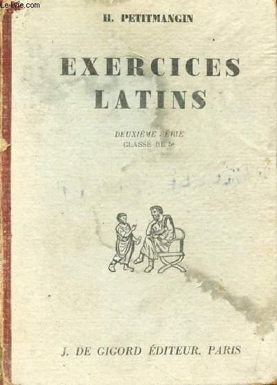 EXERCICES LATINS, 2e SERIE, CLASSE DE 5e