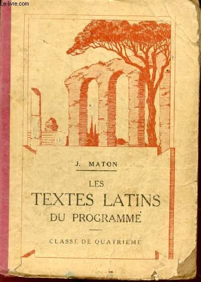 LES TEXTES LATINS DU PROGRAMME, CLASSE DE 4e