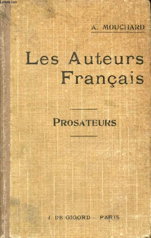 LES AUTEURS FRANCAIS DU BACCALAUREAT, TOME II, LES PROSATEURS