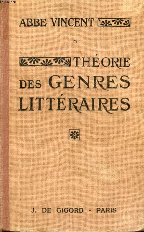 THEORIE DES GENRES LITTERAIRES