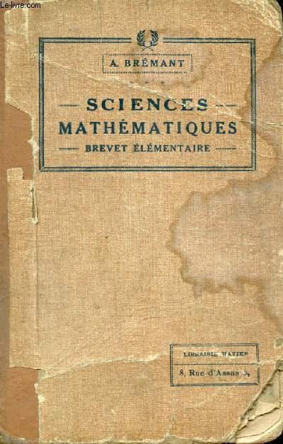 SCIENCES MATHEMATIQUES, BREVET ELEMENTAIRE