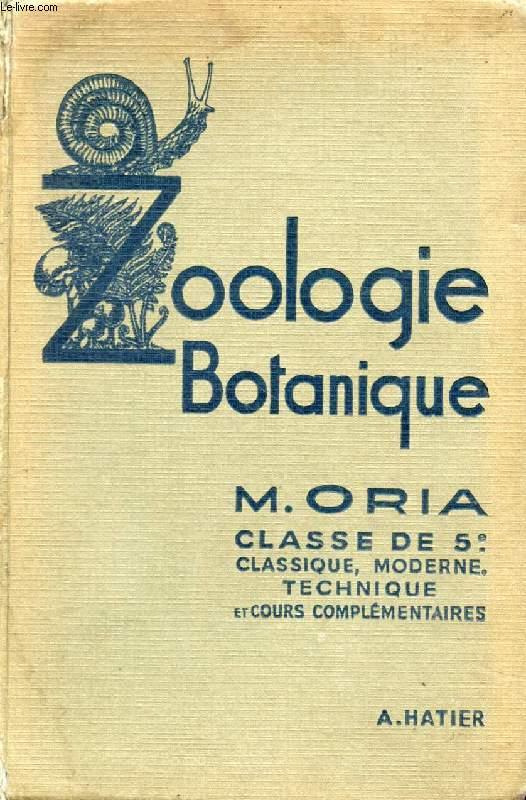 SCIENCES NATURELLES, BOTANIQUE, ZOOLOGIE, CLASSES DE 5e