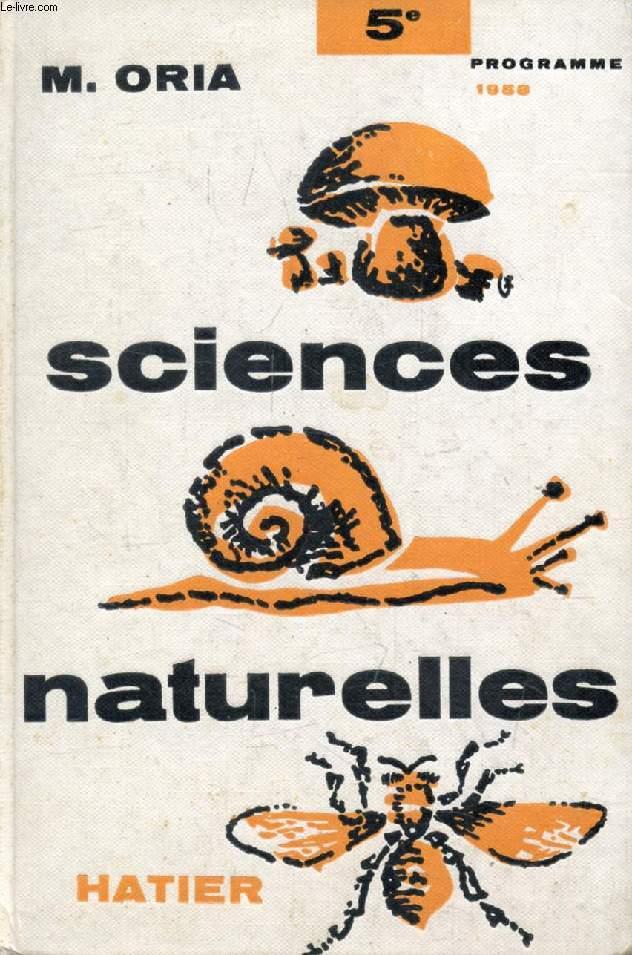 SCIENCES NATURELLES, BOTANIQUE, ZOOLOGIE, CLASSE DE 5e