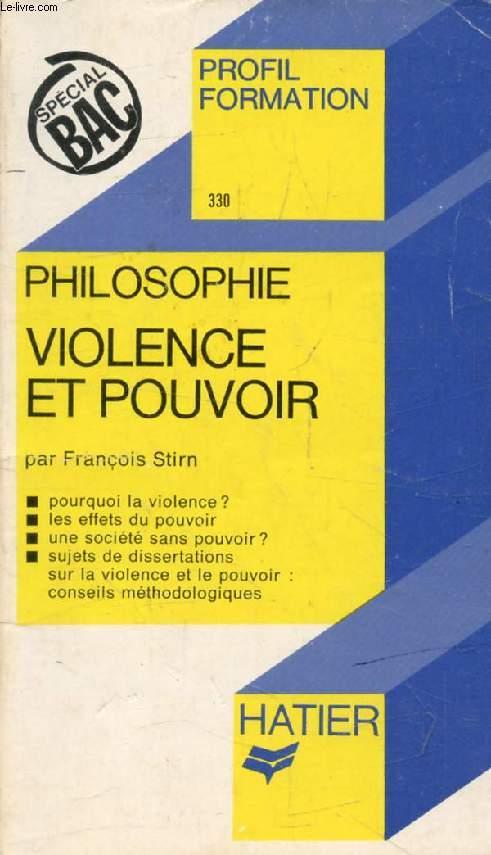 VIOLENCE ET POUVOIR (Profil Formation, 330)