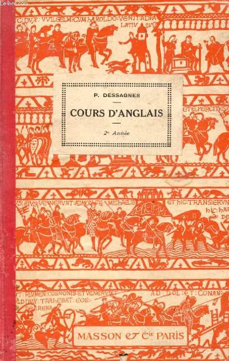 COURS D'ANGLAIS, 2e ANNEE