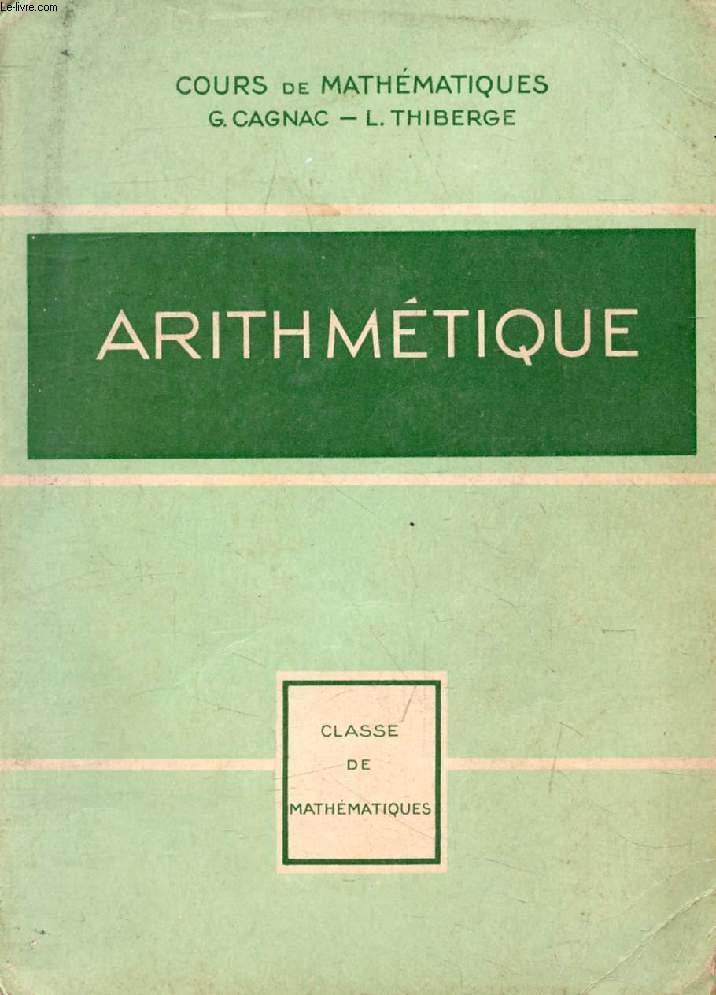 ARITHMETIQUE, CLASSE DE MATHEMATIQUES