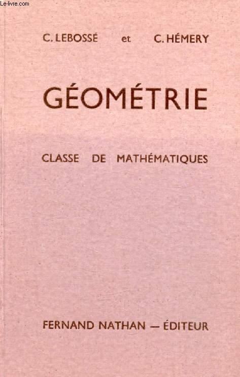 GEOMETRIE, CLASSE DE MATHEMATIQUES