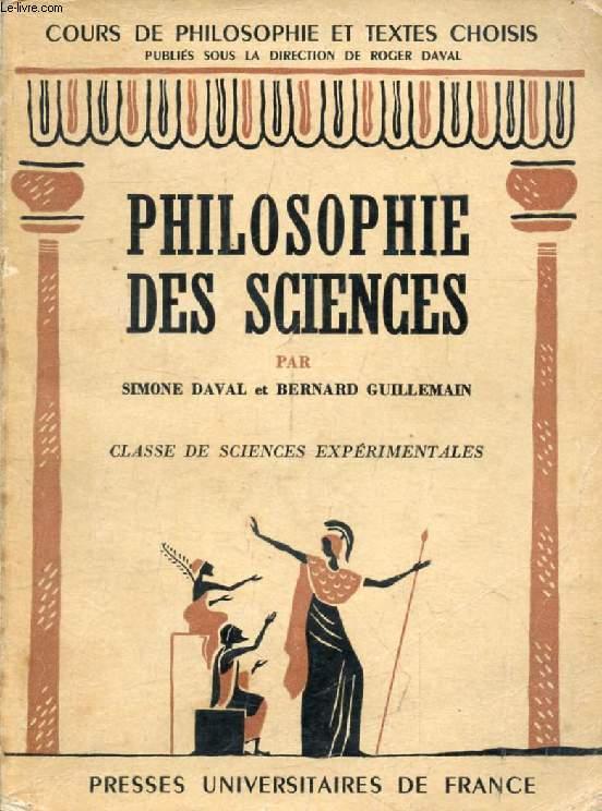 PHILOSOPHIE DES SCIENCES, CLASSE DE SCIENCES EXPERIMENTALES