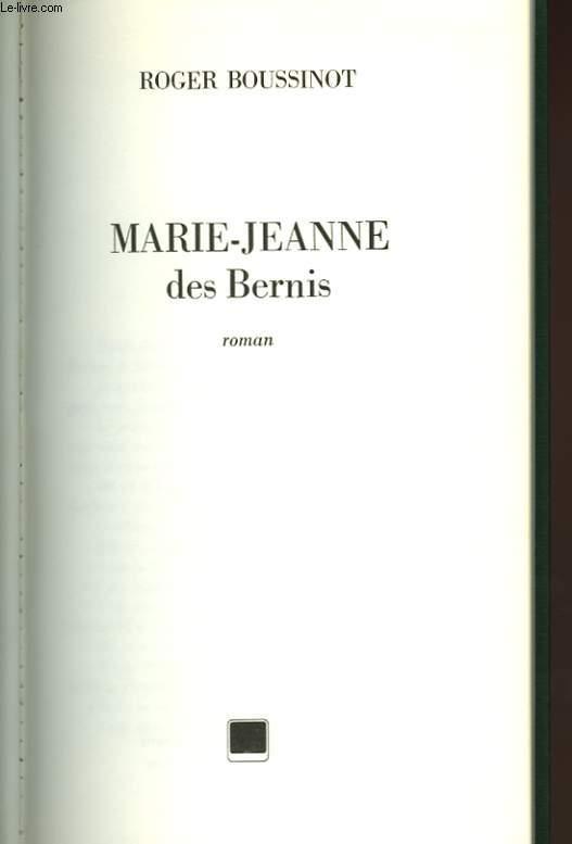 MARIE JEANNE DES BERNIS