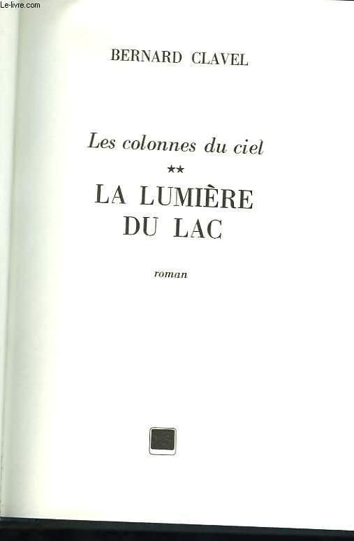 LES COLONNES DU CIEL TOME II LA LUMIERE DU LAC