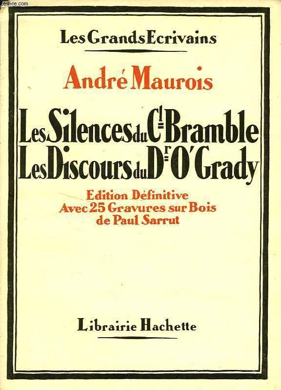 LES SILENCES DU COLONEL BRAMBLE - LES DISCOURS DU DR O'GRADY