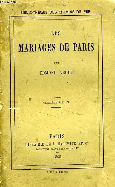 LES MARIAGES DE PARIS