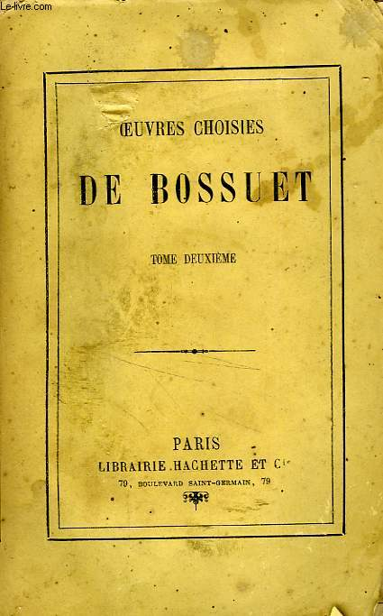 OEUVRES CHOISIES, TOME 2 seul