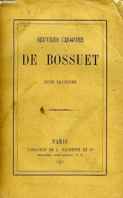 OEUVRES CHOISIES, TOME 3 seul