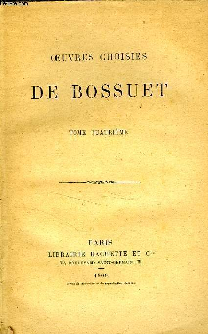 OEUVRES CHOISIES, TOME 4 seul