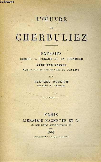 L'OEUVRE DE CHERBULIEZ - EXTRAITS