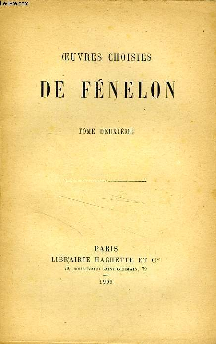 OEUVRES CHOISIES DE FENELON, TOME 2