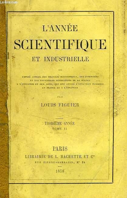 L'ANNEE SCIENTIFIQUE ET INDUSTRIELLE
