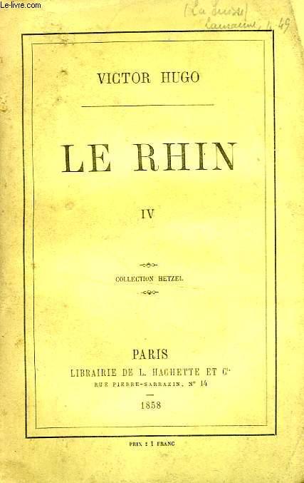 LE RHIN, TOME 4