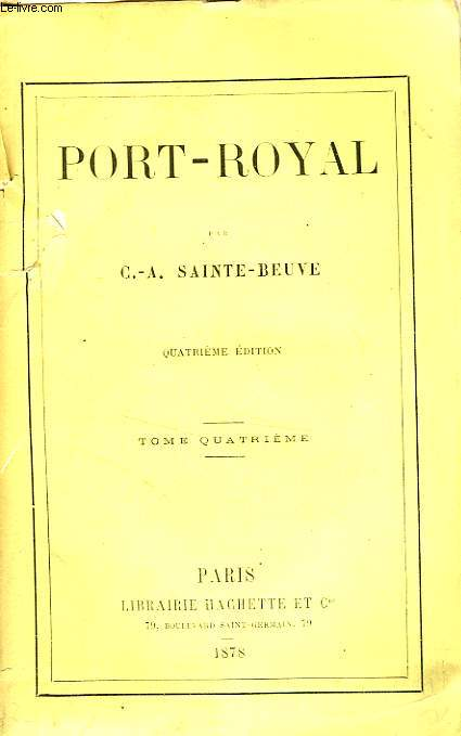 PORT-ROYAL, TOME 4 seul