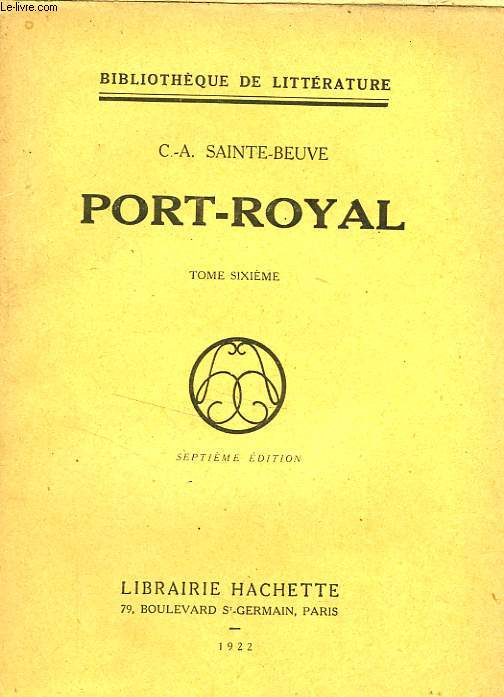 PORT-ROYAL, TOME 6 seul