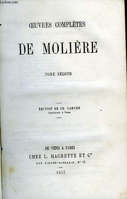 OEUVRES COMPLETES, TOME 2 seul