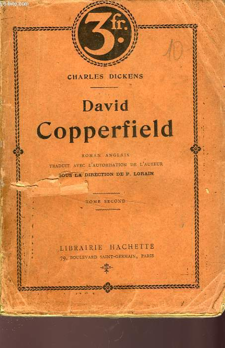 DAVID COPPERFIELD, TOME 2 seul