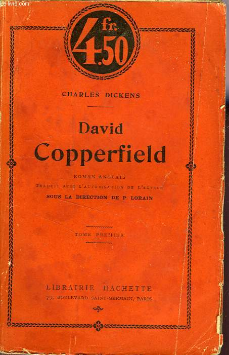 DAVID COPPERFIELD, TOMES 1 et 2