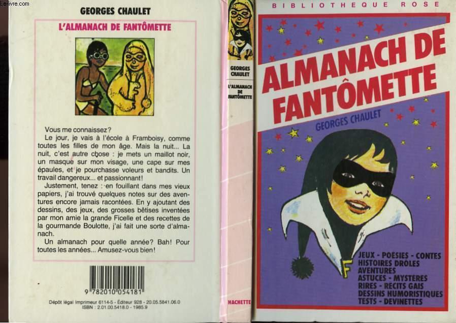 ALMANACH DE FANTOMETTE