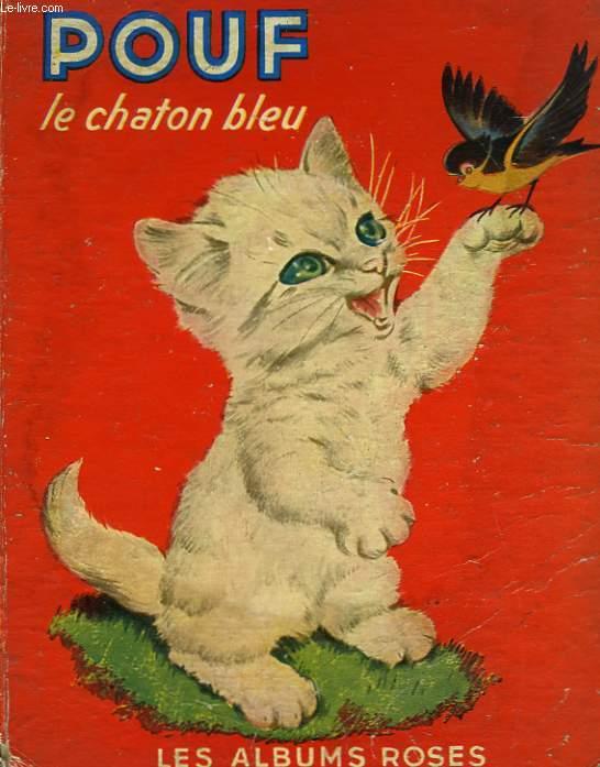POUF LE CHATON BLEU