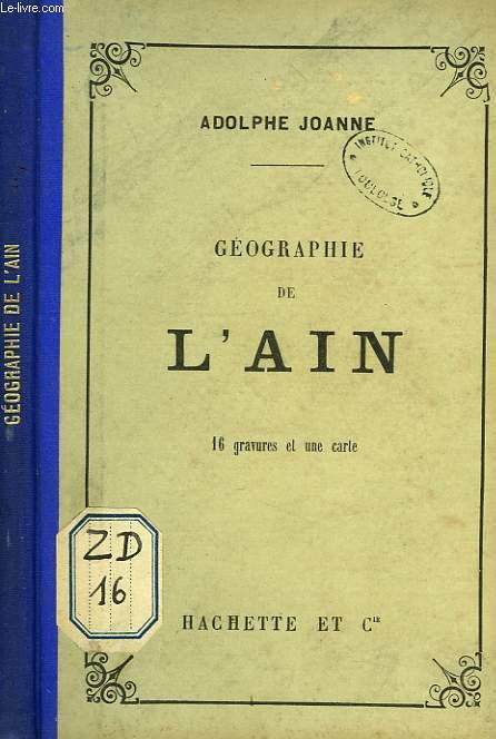 GEOGRAPHIE DE L'AIN