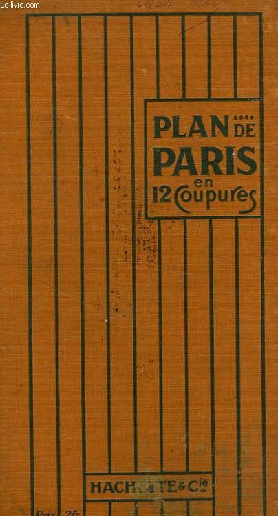 PLAN DE PARIS EN 12 COUPURES