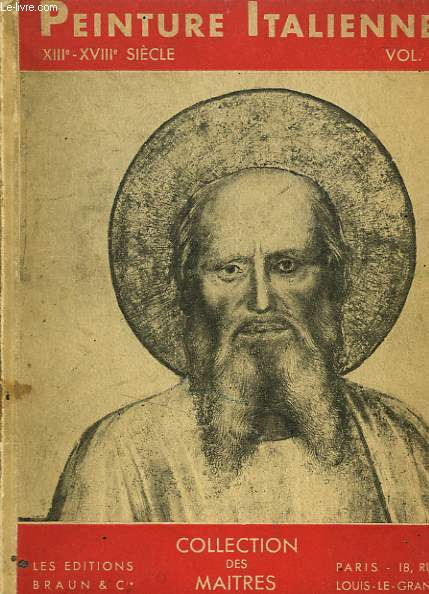 PEINTURE ITALIENNE AU XIIIe-XVIIIe SIECLE VOLUME 1