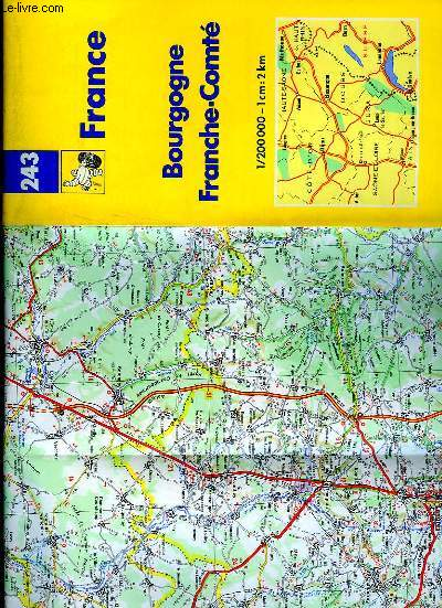 Carte De Bourgogne Michelin.Carte Michelin N 243 De Michelin Achat Livres Ref Ro70118454