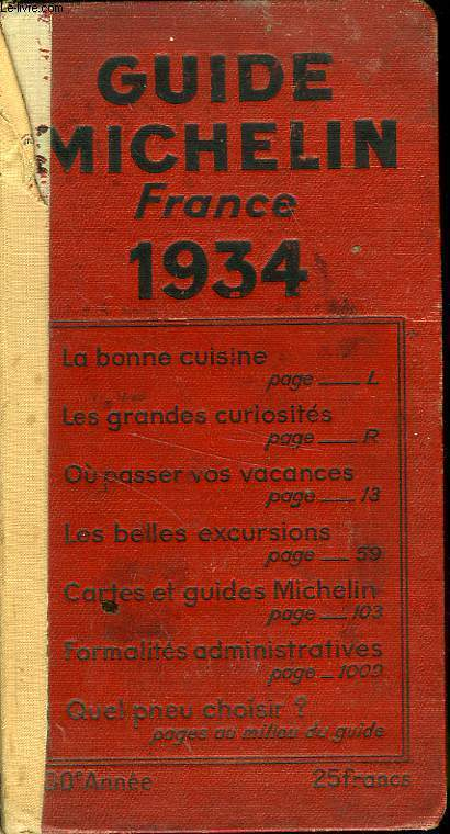 GUIDE ROUGE MICHELIN