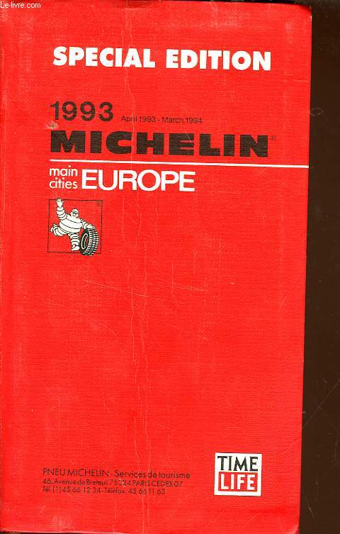 GUIDE ROUGE MICHELIN EUROPE
