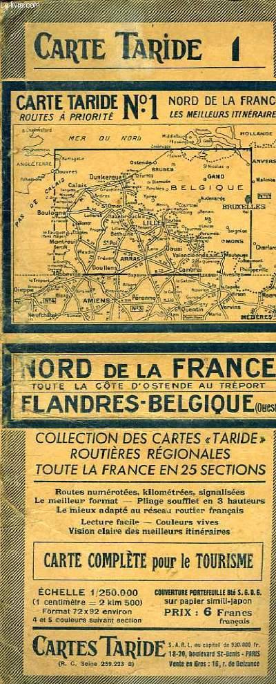 Carte Belgique Complete.Carte N 1 Du Nord De La France Flandres Belgique Ouest Carte Complete Pour Le Tourisme