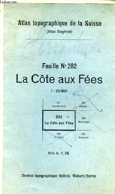 LA COTE AUX FEES FEUILLE N°282