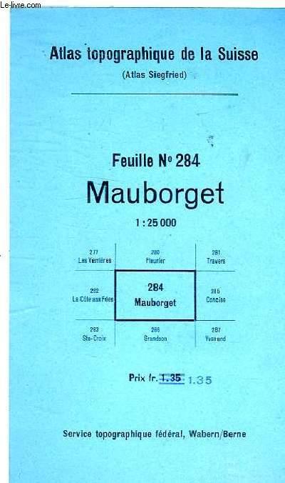 MAUBORGET FEUILLE N°284