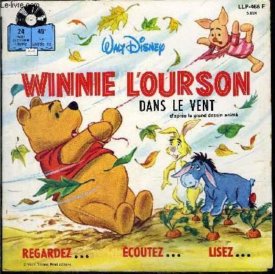 Pochette Livre Disque 45t Winnie L Ourson Dans Le Vent