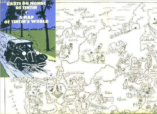 Carte du monde de Tintin - A map of Tintin's world