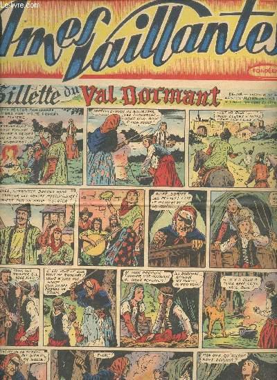 Âmes Vaillantes - Année 1950 - Hebdomadaires du 1er janvier au 10 décembre 1950 - 21 numéros (incomplet) : n°1 à 10 + 15 à 17 + 21 à 24 + 26 + 27 + 50 - n°5 en doublon