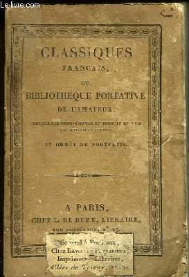 Classiques Français ou Bibliothèque Portative de l'Amateur. Fables. TOME Ier.