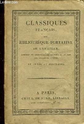 Classiques Français ou Bibliothèque Portative de l'Amateur. Chefs d'Oeuvre Dramatiques de Voltaire. Théâtre TOME 6ème.