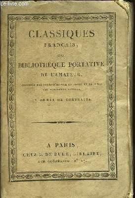 Classiques Français ou Bibliothèque Portative de l'Amateur. Chefs d'Oeuvre Dramatiques de Voltaire. Théâtre TOME 3.