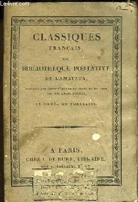 Classiques Français ou Bibliothèque Portative de l'Amateur. Chefs d'Oeuvre Dramatiques de Voltaire. Théâtre TOME 1er.