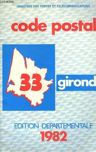 Code Postal Gironde.