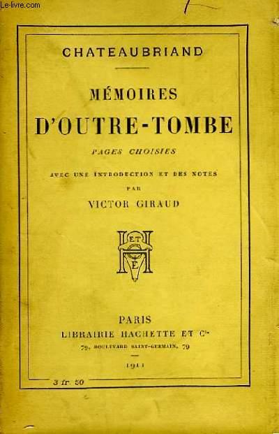 Mémoires d'Outre-Tombe.